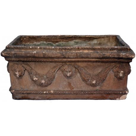 Ancient Festoon TERRACOTTA NEAPOLITAN box