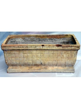 Ancient TERRACOTTA NEAPOLITAN basket box