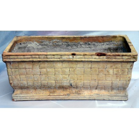 Ancient TERRACOTTA NEAPOLITAN basket box