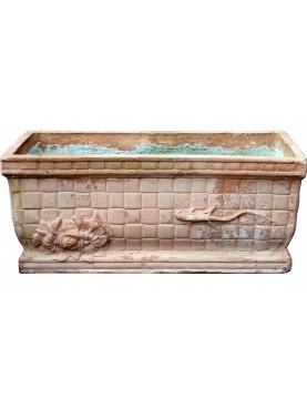 Antico Cassonetto a cestino Napoletano in terracotta