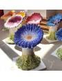 Sedile fiore maiolicato