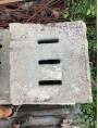 70x50cm ancient manhole - sandstone