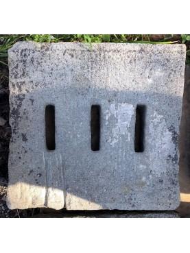 70x50cm Caditoie in pietra serena antiche ad alto spessore