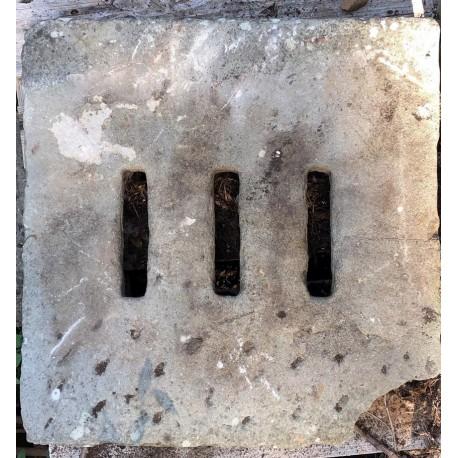 60x58cms ancient manhole - sandstone