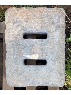 51x40cm Caditoie in pietra serena antiche ad alto spessore