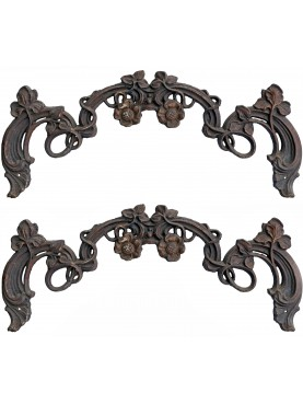 Neapolitan ancient Cast iron decoration for garden-gates