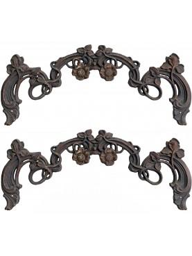 Orpello in ghisa per cancello antico Napoletano