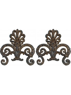 Neapolitan ancient Cast iron decoration for garden-gates