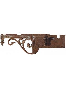 Ancient original Italian 82cms Iron brackets