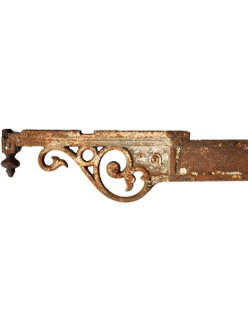 Ancient original Italian 86cms Iron brackets