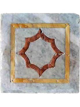Riproduzione di piastrella antica in marmi policromi