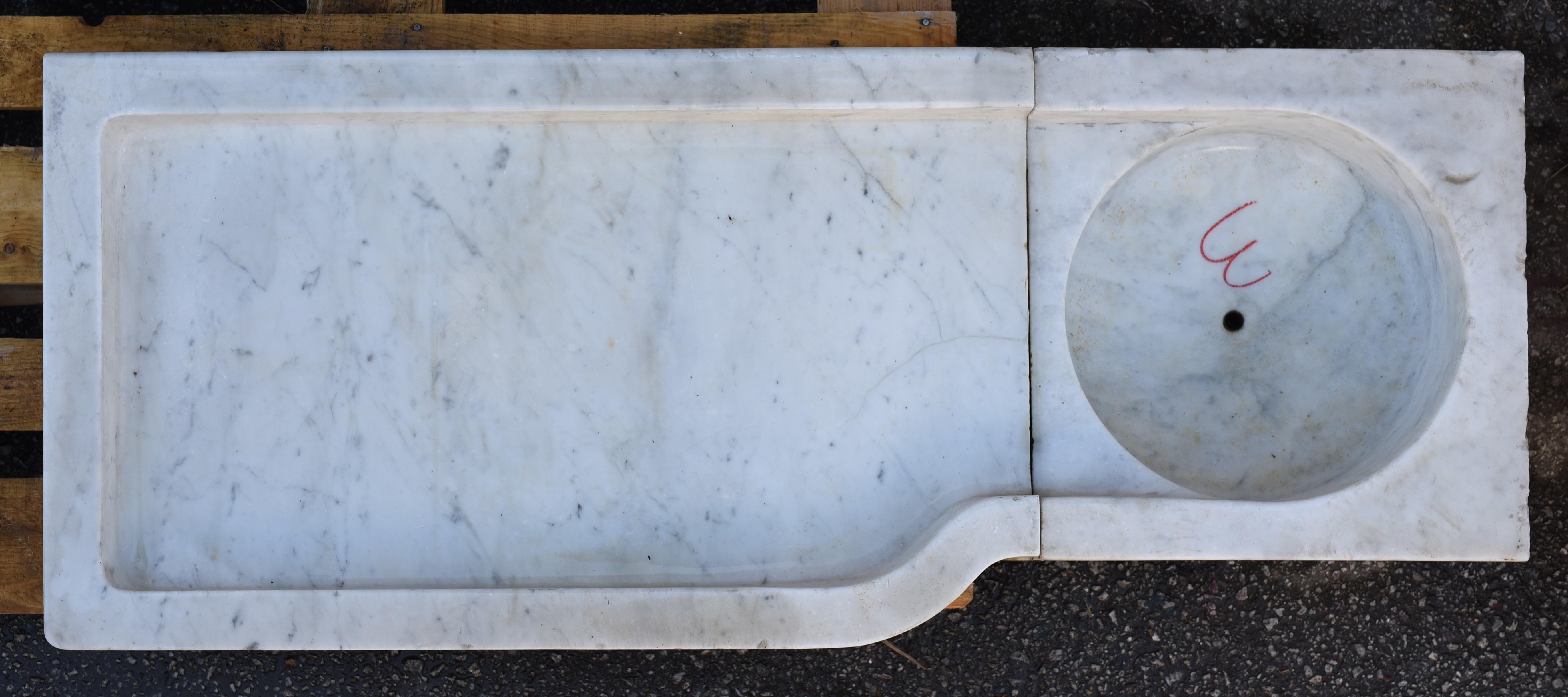 Mensole In Marmo Per Termosifoni lavandino ligure 3 in marmo bianco di carrara - recuperando