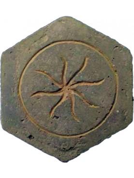 Piastrella esagonale antica