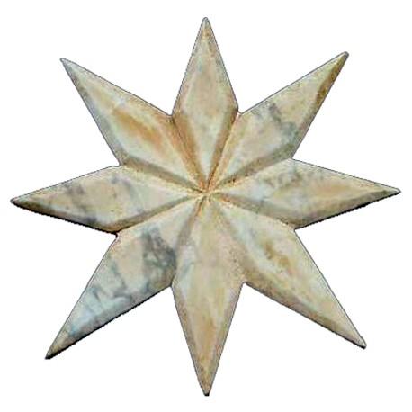 Stella in marmo per intarsio