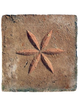 Small terracotta graffito tile
