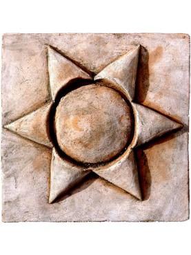 Terracotta tile - our production - six-ray sun