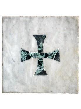 Marmetta antica in bianco e verde croce di Malta
