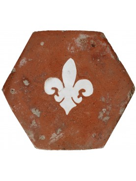 Terracotta Hexagon with marble lily
