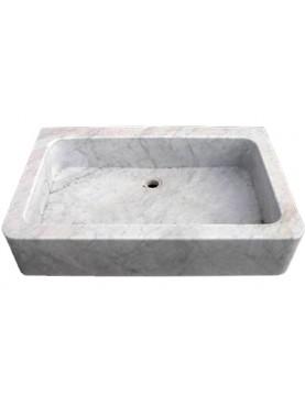 Lavandino moderno in marmo bianco di Carrara