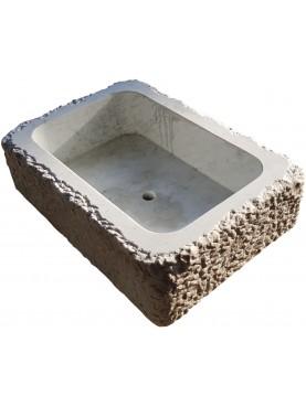 Modern Sink - white Carrara marble