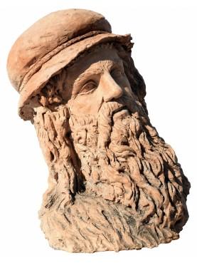 Terracotta hed Leonardo da Vinci