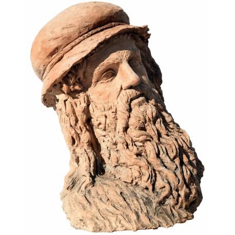 Leonardo da Vinci testa in terracotta