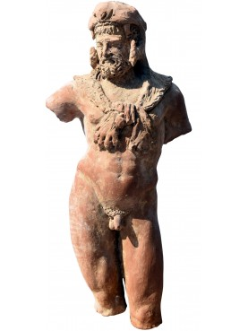 Statue of Hercules in terracotta copy Vatican Museums