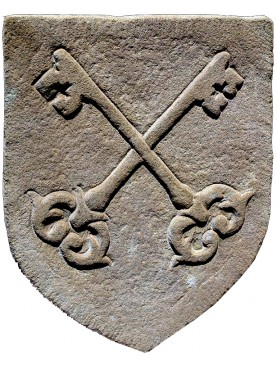 Stone coat of arms - vatican
