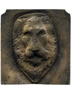 Concrete Lion Head garden mask Verrocchio