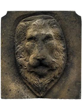 Mascherone Testa di Leone in malta cementizia - Verrocchio