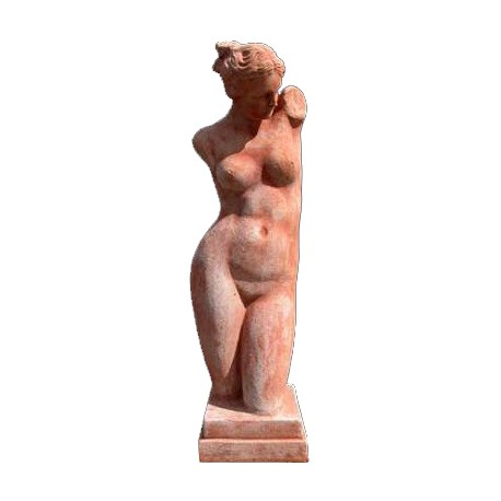 small Afrodite terracotta statue