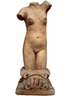 small Venus terracotta statue with base