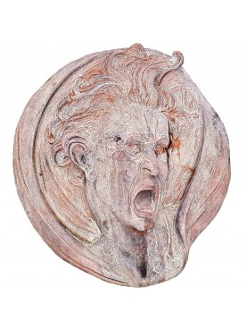 Round in terracotta freely inspired by the sketch drawn by Michelangelo Buonarroti in 1525 and conserved in Uffizi Museum