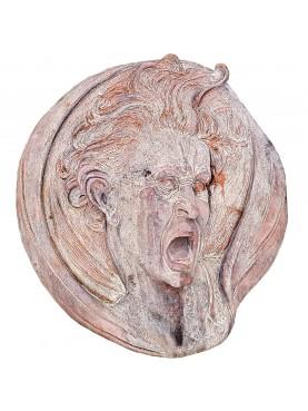 Tondo in terracotta formato a mano ispirato al disegno di Michelangelo del 1525