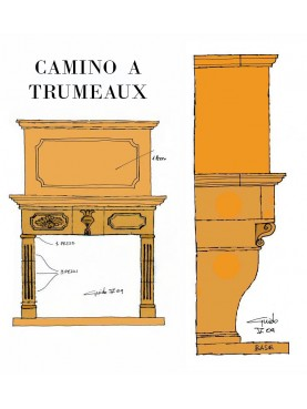 De Sanctis Fireplace Trumeau version