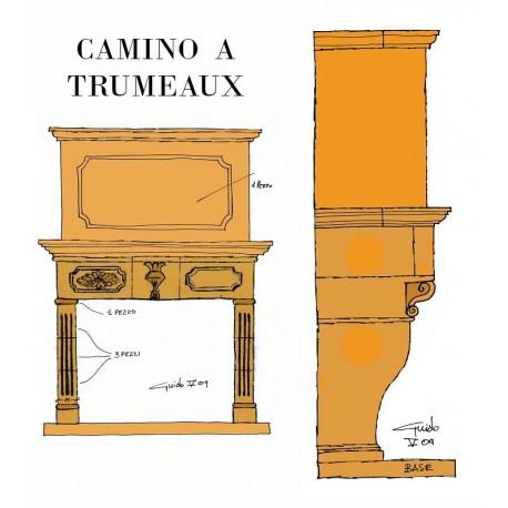De Sanctis Fireplace Trumeau version