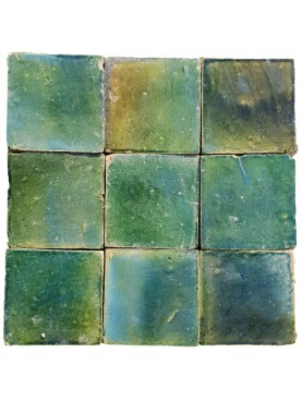 Hand-made Morocco Tile COPPER GREEN