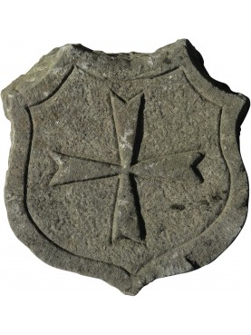 Malta cross - sand stone coat of arms