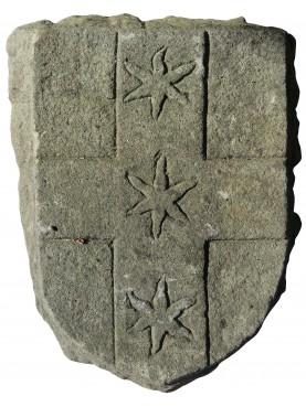 Stemma in pietra con croce Genovese