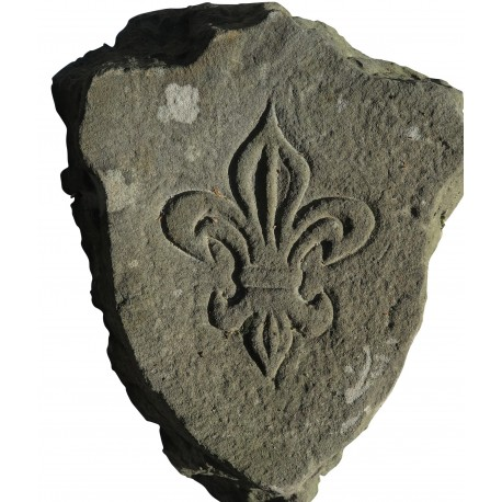 Stone coat of arms with French lily