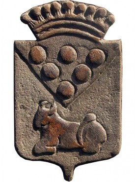 Medici's coat of arms sand-stone