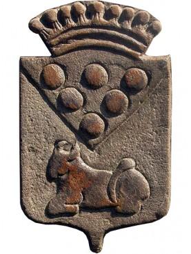 Stemma in pietra calcarea scorniciato 450€