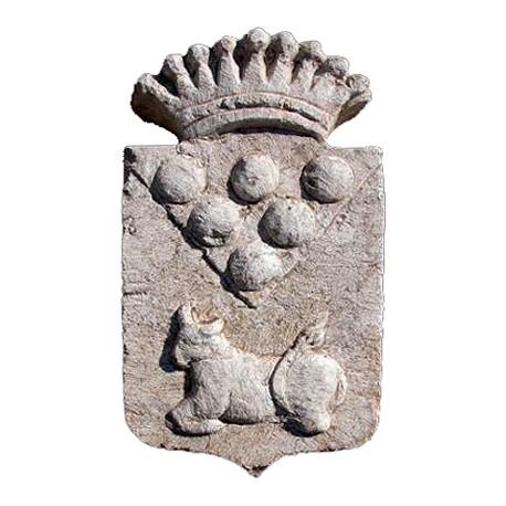 Stemma Mediceo in pietra calcarea