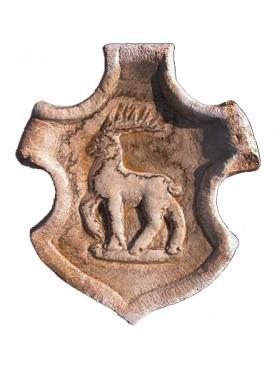 Stemma con cervo in pietra