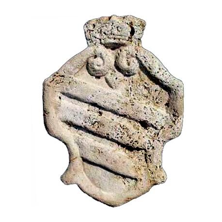 Coat of Arms - travertine Navona