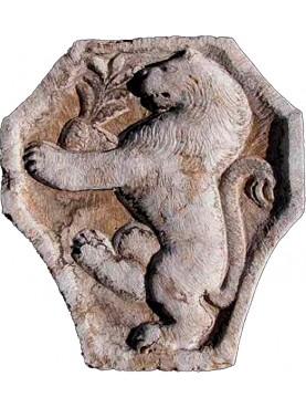 Stemma in Pietra con leone rampante - pietra