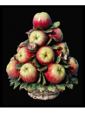 Cestino di mele con fiori grande