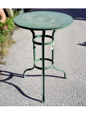 Tavolo antico rotondo in ferro