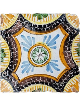 Neapolitan ancient Majolica tile