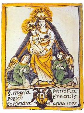 S. Maria Populi Ennensis - Madonna majolica tile